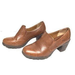 """Born leather mule. Brown, 3"""" heels, Size 9"""